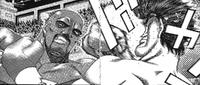 Takamura vs Bernard - Takamura hit
