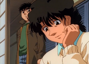 Hiroko talking about how Ippo's face has become like a man's