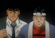Fujii and Umezawa watch Ippo fight Ponchai