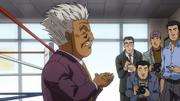 Mr Sakaguchi during Gregory's spar