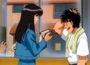 Mari getting Ippo's autograph