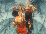 Ippo's first right on Sendo