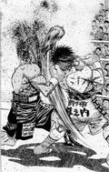 Ippo hits Shimabukuro