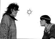 Mashiba seeing Miyata at work