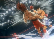 Ippo defeating Volg