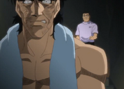 Mashiba telling his coach that he would be ashamed to stand in the ring as a winner