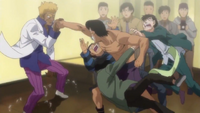 Hawk and Takamura's handshake