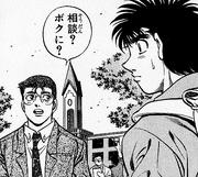 Ippo meets Sanada at his college