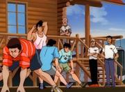 Kamogawa gym's arrivial at the Pension Yoshio