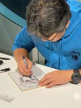 Art Exhibit - Morikawa autograph session - Drawing Volg