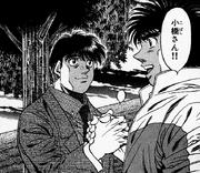 Kobashi shakes Ippo hand
