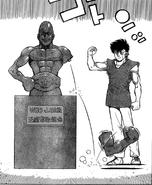 Sendo - Manga - Statue of Takamura