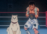 Ippo posing after becoming the Japanese champion
