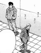 Takamura and Miyata senior talking about Ippo and Miyata