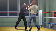 Sawamura defeating a junior welterweight