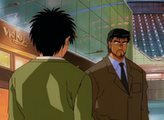 Date and Ippo meet after the iyata vs Li match