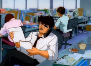 Fujii informing Ippo that Volg is leaving Japan