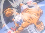 Takamura defeating Tamaki