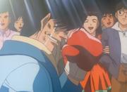 Reiko congratulating Kimura with her boyfriend