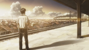 Kamogawa watching Nekota and Yuki leave