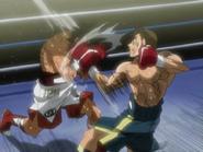 Ippo Blocking Sanada's Tsubame Gaeshi