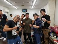 Morikawa with Kyosuke Sawada after win