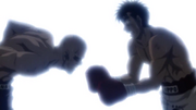Ippo trying to catch Yamada as he falls