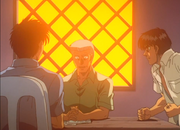 Miyata arguing his father's decision