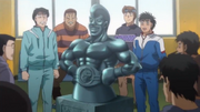 Arrival of the statue of Takamura