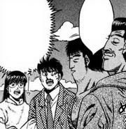 Fujii and Mari interviwing Shimabukuro