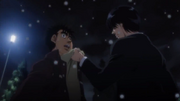 Miyata asking Ippo why he turned down his challenge requests