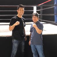 Morikawa with Ryōta Murata