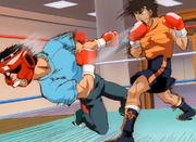 Sendo defeating someone fro a higher weightclass