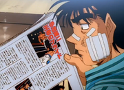 Ippo reading about his loss against Date