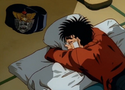Ippo sleeping with his belt