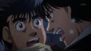 Miyata telling ippo when to fight