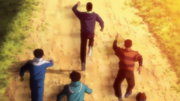 Takamura taking his gym mates sweat to the world with him