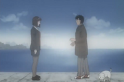 Kumi telling Ippo that she can not see him anymore