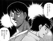 Ippo mentioning to Mari about Sendo's reason