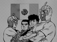 Sendō and Hoshi with the Marascas Brothers