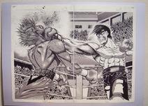 Art Exhibit - Original Manuscript - Takamura vs Hawk