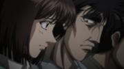 Kumi and Mashiba watch Ippo vs Sawamura