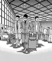 Alfredo arriving in Japan