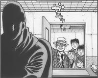 Takamura waiting for Kamogawa