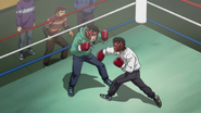 Ippo sparring with Kimura