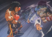 Ippo using the Dempsey Roll on Ponchai