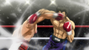 Ippo counters Sawamura's Dempsey Roll counter