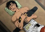 Ippo sleeping after defeating Sanada