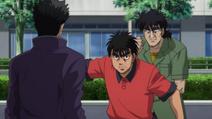 Ippo stops Mashiba from attacking Sawamura