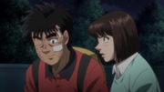 Kumi walking Ippo home after his match against Sawamura